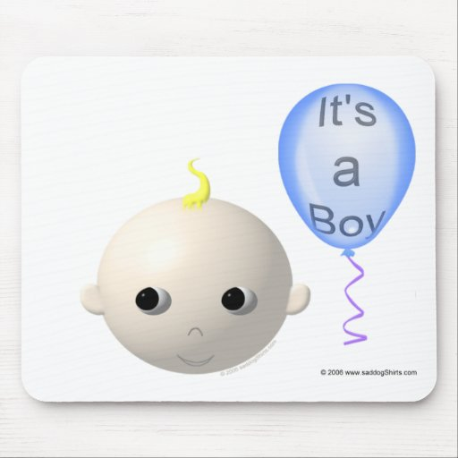 I'ts a Boy (personalize/customize any design) Mouse Pad