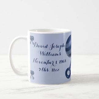 It's A Boy - Personalized Blue Baby Rattle Mug Basic White Mug