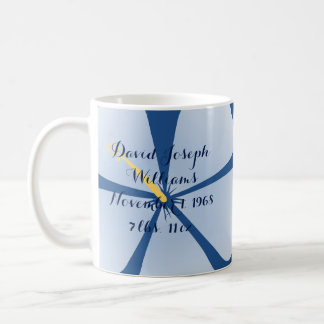 It's A Boy - Personalized Blue Hibiscus Mug