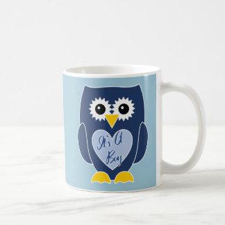 It's A Boy - Personalized Blue Owl Mug