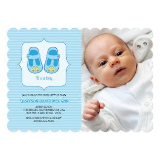 It's A Boy Photo Birth Announcement