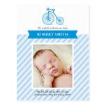 It's a Boy Photo Cute Announcement Postcard
