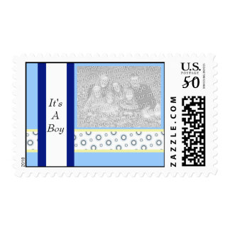 It's A Boy Photo Postage Stamp template