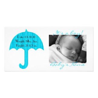 It's a boy! Photocard Photo Card Template