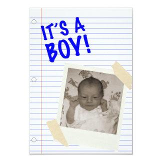 it's a boy! POLAROID Personalized Invitations