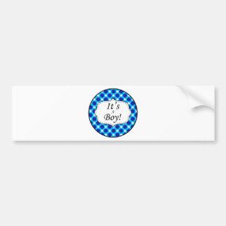 Its A Boy Polka Dot Milestone Bumper Sticker