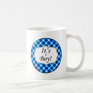 Its A Boy Polka Dot Milestone Coffee Mug