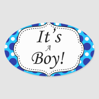 Its A Boy Polka Dot Milestone Sticker