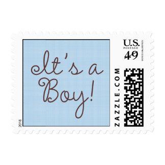 It's A Boy!  Polka Dot Postage