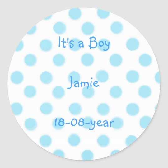It's a boy! -polka dots sticker