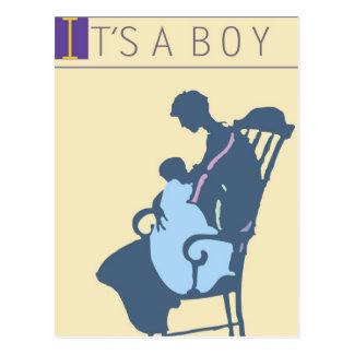 <It's a Boy> por el minero de Steve Tarjetas Postales