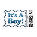 Its A Boy Postage Stamp