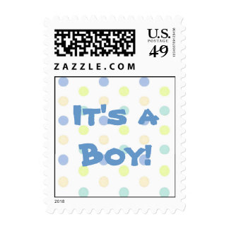 It's a Boy Postage Stamp
