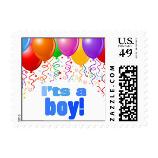 It's a boy postage stamp