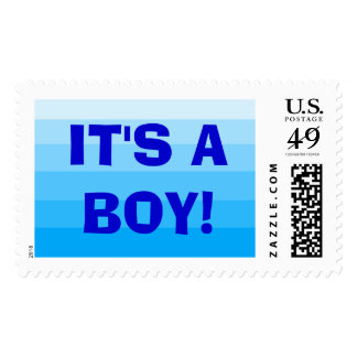 """""""It's a Boy!"""" Postage Stamps"""