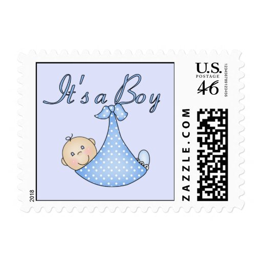 It's a Boy postage stamps