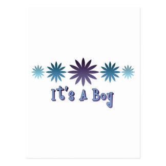It's A Boy Postcard