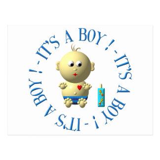 It's a boy! postcard