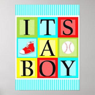 It's A Boy Poster