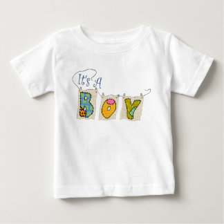 """It's A Boy"" Quilted Announcement T-Shirt"
