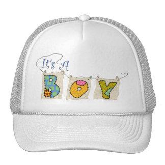It's A Boy Quilted - Birth Announcement Cap Trucker Hat