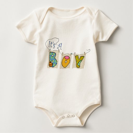 It's A Boy Quilted - Birth Announcement Infant Baby Creeper