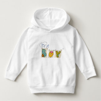 """""""It's A Boy"""" Quilted Toddler Pullover Hoodie"""