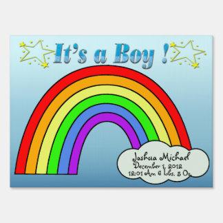 It's a Boy - Rainbow Keepsake Yard Sign