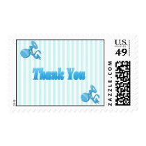 It's a Boy - Rattle  Baby Shower Thank You Postage