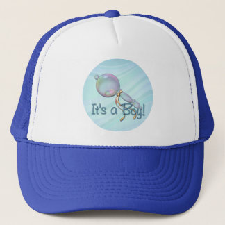 IT'S A BOY RATTLE by SHARON SHARPE Trucker Hat