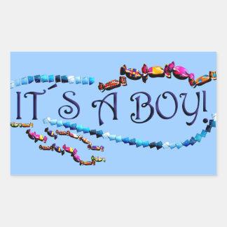 Its a Boy Rectangular Sticker