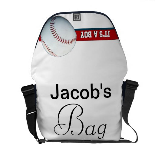 it 39 s a boy red white blue baseball diaper bag courier bags zazzle. Black Bedroom Furniture Sets. Home Design Ideas