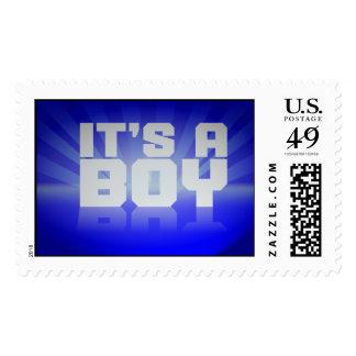It's A Boy Reflective Design Postage