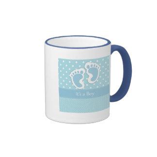 It's A Boy Ringer Mug