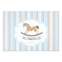 It's A Boy Rocking Horse Thank You Cards