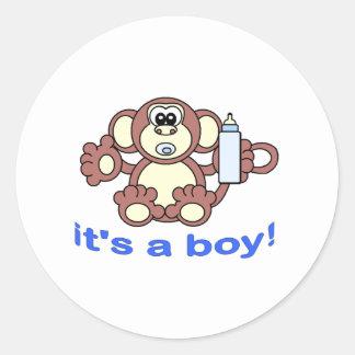 Its A BOY! Round Sticker
