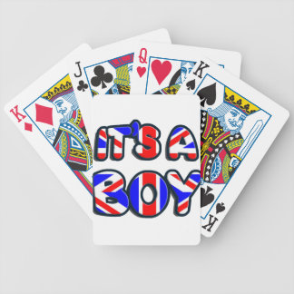 It's a Boy Royal baby Bicycle Poker Cards