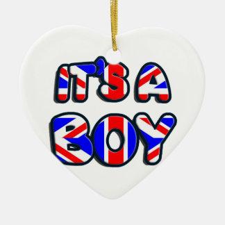 It's a Boy Royal baby Ceramic Ornament