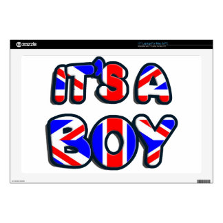 """It's a Boy Royal baby Decals For 17"""" Laptops"""