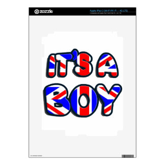 It's a Boy Royal baby Decals For iPad 3
