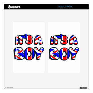 It's a Boy Royal baby Decals For Kindle Fire