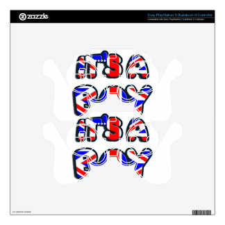 It's a Boy Royal baby PS3 Controller Decals