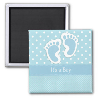 It's a Boy save the date magent 2 Inch Square Magnet