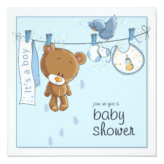 It's A Boy Shower Invitation