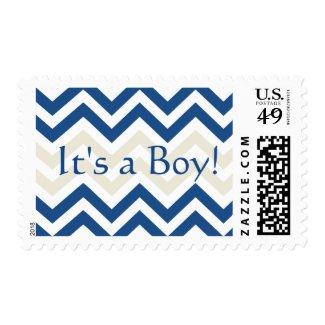 It's A boy Stamp | Trendy Chevron Pattern