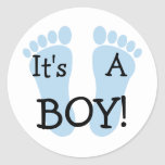 It's A Boy Sticker at Zazzle