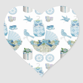 Its A Boy Heart Stickers