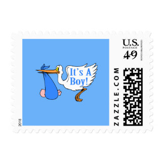 It's A Boy! (Stork And Baby Bundle) Postage