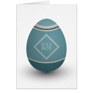 it's a boy stork egg greeting card