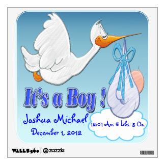 It's A Boy - Stork Keepsake Wall Decal